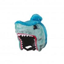 Couvre casque peluche brodée Requin