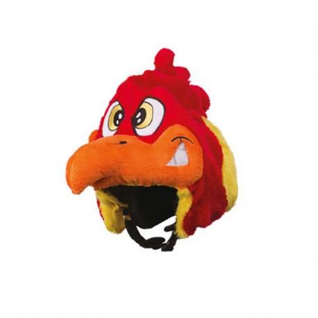 Couvre casque peluche brodée Coq