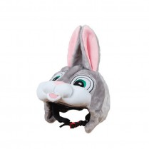 Couvre casque peluche brodée Lapin
