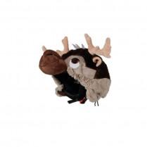 Couvre casque peluche brodée Caribou